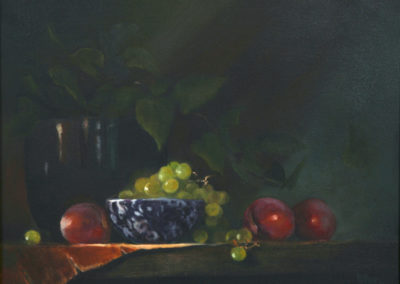 Plums and Green Grapes